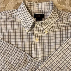 Brooks Brothers Shirts - Brooks Brothers L 100% cotton dress shirt checked